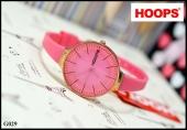 Hoops สายยาง หน้าปัดขอบ pinkgold  ขนาด 3 cm