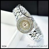 นาฬิกาข้อมือ Swaymond สายเลสสีเงิน  หน้าปัด 2.5 cm