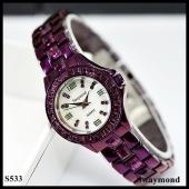 นาฬิกาข้อมือ Swaymond  สายเลสสีม่วง หน้าปัดสีขาว 2.5 cm